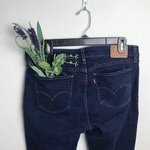 LEVI'S 711 dark wash skinny jeans, sz 31